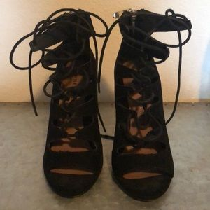 Chinese Laundry lace up heels - WORN ONCE!